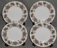 Set (4) Royal Tuscan OXFORD PATTERN Bone China DESSERT or B&B PLATES England
