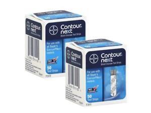 100 Contour Next strisce reattive diabete test glucosio scadenza: 11-2022