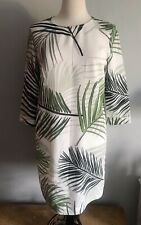 Great Plains Leaf Tropical Palm Print Shift Tunic Dress New Size Medium 10 12