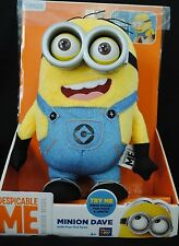 Despicable Me Talking Minion Dave Plush Voice, Lights & Pop-Out Eyes NEW