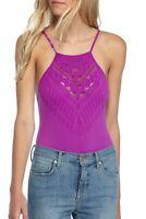 NWT Free People Intimately Womens Bodysuit Dark Magenta Purple Solstice M/L