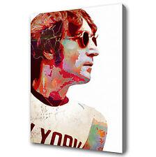John Lennon 28x16 pittura ad olio, non una stampa o poster, BEATLES McCARTNEY ASTRATTO