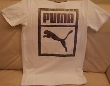 NEW W TAGS MEN'S PUMA HOLOGRAPHIC T-SHIRT WHITE SIZE SMALL 573927 02