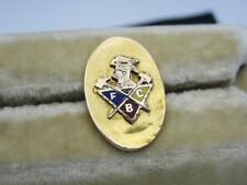 Antique Knights of Pythias Gold & Enamel FCB Fraternal Insignia Medallion Button
