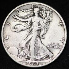 1933-S Walking Liberty Half Dollar CHOICE XF FREE SHIPPING E265 KNB