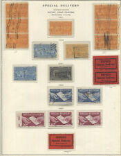 U.S. SPECIAL DELIVERY USED ON THREE SCOTT PAGES #E1//E23 quite attractive group