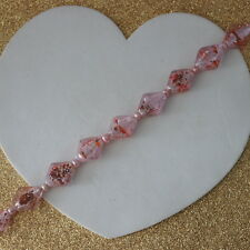"""Nice Bracelet With Murano Glass And Pink Pearls 9"""" Inc. Long  925 cIasps In Box"""