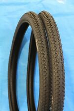 "Bike Tyres 2 x 22"" x 1.75DD"" Inch (PAIR)Girls Dragster Black  Bicycle 4842"