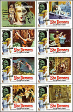 IRISH McCALLA In SHE DEMON Complete Set Of 8 Individual 8x10 LC Prints 1958