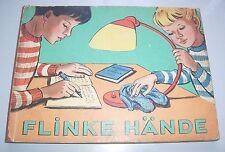 Schönes DDR Pappbilderbuch Flinke Hände Dr.Herbert Schulze 1959 Werner-Nestler
