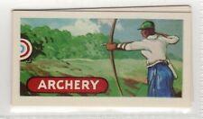 New listing Sports and Games 1954. Archery