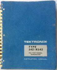 Tektronics Type 142r142 Pal Test Signal Generator Manual