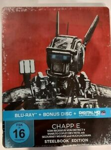 Chappie (2015)[Blu-ray + Bonus Blu-ray im Steelbook /NEU/OVP] Hugh Jackman, Sigo