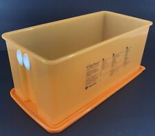 Tupperware FridgeSmart Medium Long Deep Produce Container 15 Cup Orange New