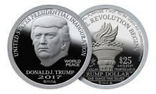 2017 NORFED 1 OZ SILVER TRUMP DOLLAR PROOF-LIKE 2nd Amendment RNC w/ COA