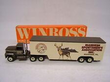 Winross Manheim Sportsmen's Association Pa 1998 Ford 9000 w/ Transporter Vgc