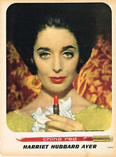PUBLICITE ADVERTISING  1963   HARRIET HUBBARD AYER  cosmétiques  CHINA RED