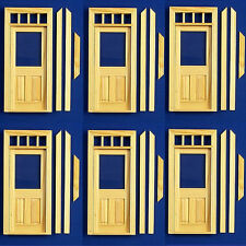 Dolls House 12th Scale Half Glazed Door Pack Of 6