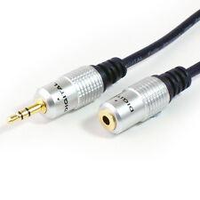 GOLD 1m 3.5mm Spina Jack a Femmina Cavo Stereo-Cuffie audio estensione piombo