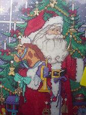 Bucilla Counted Cross Stitch Kit,CHRISTMAS ADVENT CALENDAR,Santa,Charms