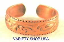 Antiqued Copper Foliage Themed Ring Adjustable Band 3028-J