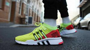 Adidas EQT Support Mid Adv Primeknit Glow Turbo B37436 Running Shoes Men Siz 8.5
