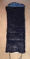 Goose Down Sleeping Bag Blue 33 X 86 Vintage Mummy Full Zip
