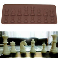 16 Cavity Chess Silicone Mould Chocolate Fondant Mold 3D Tray Cake Baking Tool