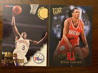 1996-97 Ultra All-Rookie + NBA Hoops Allen Iverson Rookie Philadelphia 76ers LOT