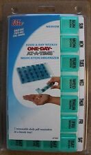 Ezy Dose Four A Day Weekly Medication Organizer Removable Daily Pill Box Med New