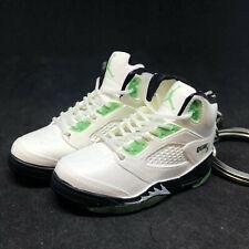 Pair Air Jordan V 5 White Green Quai 54 Q54 Sneakers Shoe 3D Keychain 1:6 Figure