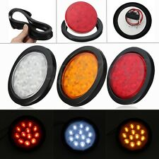Motorcycle Round 12V Red 24 LED Brake Turn Signal Stop Tail Lights reflectors