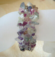 Fluorite Gemstone Nugget Stretch Bracelet