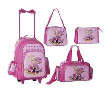 Set de voyage-valise à roulettes-enfants rose fille