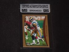 ISAAC BRUCE 1998 TOPPS SIGNED AUTOGRAPHED CARD #260 ST. LOUIS RAMS CAS AUTHENTIC