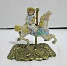 Willitts Carousel Girl & Horse Jumper Tobin Fraley Le 6279/9500 Signed