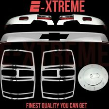 FOR 07-13 CHEVY TAHOE LOWER MIRROR+UPPER TAILGATE+TAILLIGHT+GAS CHROME COVERS