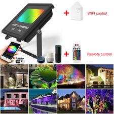 RGB+CW+WW 24W Waterproof WIFI Bluetooth Smart LED Flood Light Wall Lawn Lamp