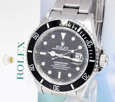 ** Rolex Transitional Submariner Steel Black Dial/Bezel Watch & Box 16800 **