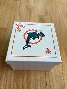 NEW DANBURY MINT Miami Dolphins Christmas Tree Santa Train ornament 2005 w/box