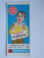 FORMAGGINO MILIONE INVERNIZZI vale 1 punto vecchio cartoncino figurina *