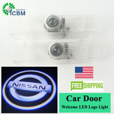 No Drill LED Door Laser Logo Ghost Shadow Lights For Nissan Tian Quest 2004-2017