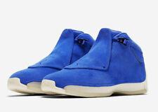 Nike Air Jordan 18 XVIII Retro Blue Suede Size 8-9.5 Racer Blue Sail AA2494-401