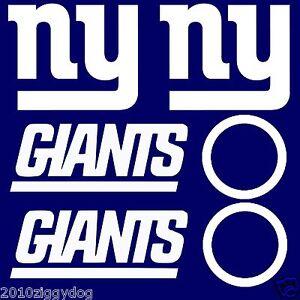 6pc New York Giants Cornhole Decal  sets LARGE Bean Bag Toss Baggo Stickers
