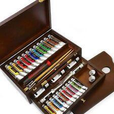Royal talens-rembrandt huile couleur box-master gold edition dans coffre en bois