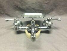 """Vtg Speakman High Back Kitchen Sink Faucet Chrome Brass 8"""" Old Fixture 442-19J"""