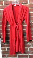 TART INTIMATES Red Black Lace ROBE Medium Tie Front