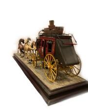 Franklin Mint Precision Diecast Model Wells Fargo Overland Stagecoach w Horses