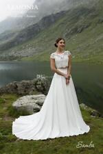 Two Pieces Detachable Bodice A-Line Lace Wedding Dresses Bridal Gowns
