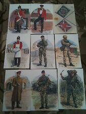Set x 9 Military Postcards 1bn QLR Queens Lancashire Regiment by Alix Baker